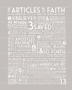 Articles of Faith - Subway Art