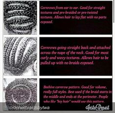 crochet braid pattern - Google Search