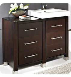 Photo Of Fairmont Designs Midtown Modular Modern Bathroom Vanity in Espresso
