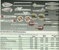Harley-Davidson   1940-80 Gas Tank Emblems