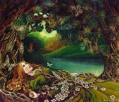 Awakening Beltane Spring Forest Goddess Fine Art by EmilyBalivet, $23.00