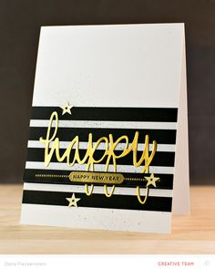 Happy, Happy New Year card by pixnglue at @studio_calico