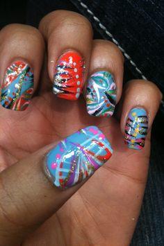 Crazy crazy colorful nail designs. | My Crazy Nail Art/Designs ...
