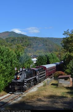 RailPictures.Net Photo: GSMR 1702 Great Smoky Mountains Railroad Steam 2-8-0 at Whittier, North Carolina by Tyler McKinney