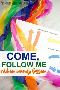 Once you've learned this fun song, let the children experience the melody and music in this engaging way! The slower melody of this song is perfect for introducing ribbon wands to help feel the song Primary Program, Primary Songs, Primary Singing Time, Primary Activities, Lds Primary, Music Activities, Preschool Music, Articulation Activities, Preschool Literacy