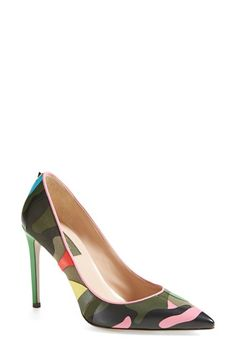 Valentino 'Psych Camouflage' Pointy Toe Pump (Women) available at Luxury & Vintage Madrid
