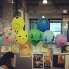 My pokemon balloon collection.
