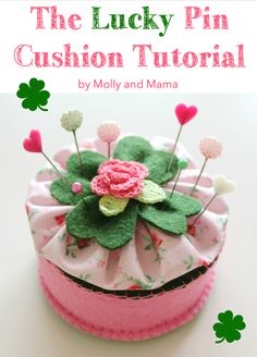 Make a felt shamrock pin cushion for St Patrick's Day - a Molly and Mama tutorial