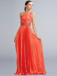 8d7431dd45 2014 Style Sheath Column One Shoulder Ruffles Sleeveless Floor-length  Chiffon Prom Dresses