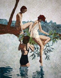 ~ Maggie Dillon Designs - Summer of 1937.  batik and threadwork, 2011
