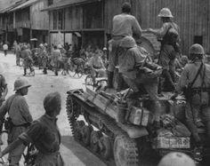 tankette of Lieutenant Colonel Noguchi in java island, march 1942