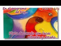 PLATO CON ESTAÑO Y LACA VITRAL Parte 2/3 - YouTube Decoupage, Coffee Mugs, Mandala, Cups, Diy, Glasses, Country, Friends, Videos