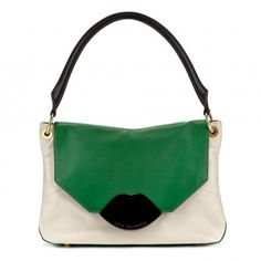 EMERALD AND CHALK LEATHER SMALL NICOLA