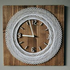 This wooden clock would be a great decoration for your home or office and it also makes a wonderful housewarming gift! Usefull information for custom: • Materials: wood, string and nails. • Size: 30x30 cm (12x12) • Processing time: We need 3-5 bussiness days to prepare your order for #housewarminggifts
