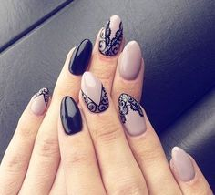 Love black & nude with lace work
