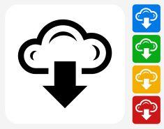 Download Cloud Icon Flat Graphic Design vector art illustration