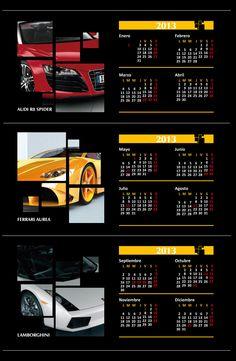 Calendario Super Autos 2013