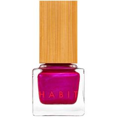 Habit Cosmetics 06 Darling Nikki Fuchsia With Pink Shimmer... found on Polyvore featuring beauty products, makeup, nail polish, cosmetics, pink cosmetics, shimmer makeup and pink makeup