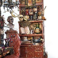 Wicca, Pagan, Adams Family, Diorama, Creative Ideas, Handmade Gifts, Miniatures, Room, Etsy
