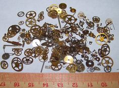 25g STEAMPUNK GEARS Parts Pieces Decorative LOT Like by EmmasMuse, $7.99