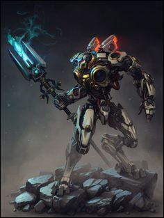 Robotic Warrior Photoshop sketch