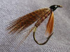 Brown Mallard - Tag, flat gold tinsel, Tail, bronze/brown mallard, Body, brown wool/floss, Rib, flat gold tinsel, Beard, brown hackle fibres, Wing, bronze/brown mallard.