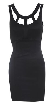 Cage Back Bodycon Dress - SoCoCo Boutique
