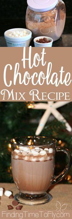 This homemade Hot Chocolate Mix Recipe uses ground chocolate and white chocolate chips. I'm making my own bulk hot chocolate mix this year!
