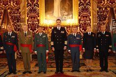 Audiencias militares de SM el Rey Felipe VI en el Palacio Real de Madrid.