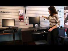 How ergonomic are desk riser solutions like Varidesk and Ergotron? - YouTube