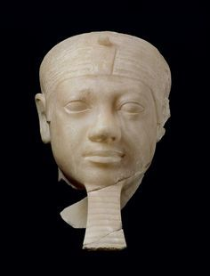 Egyptian alabaster Head of Pharaoh Menkaura (Mycerinus).Old Kingdom, Dynasty of Menkaura B. Ancient Egyptian Architecture, Ancient Egyptian Art, Ancient History, Kemet Egypt, Egyptian Pharaohs, Ancient Egypt Religion, Egyptian Kings And Queens, Art And Craft Videos, Egypt Art