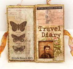 Bumblebees and Butterflies. A mini diary or album made from one sheet of 12 X 12 paper.