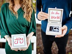 adorable way to announce pregnancy and to keep ultrasound pics