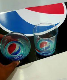 Para PEPSI vasos impresos en el fondo espejo con tintas UV Impresora Roland UV LEF300