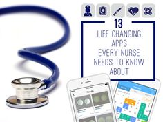 13 Life-Changing Apps Every Nurse Needs To Know About : There are a few that are great for any practitioner! Nursing Apps, Nursing School Tips, Nursing Degree, Nursing Notes, Icu Nursing, Funny Nursing, Nursing Websites, Study Nursing, Nursing Scrubs