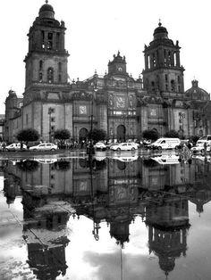 """Zócalo de la Ciudad de México, Catedral: Este es la plaza central en la ciudad. Hoy, el nombre formal es """"Plaza de la Constitución"""" porque la constitución de cadiz fue firmada aquí en 1812. Visitaremos aquí para aprender más sobre de la historia de la independencia en México, especialmente México D.F."""
