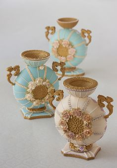 3-D Cookie Vases by Julia M Usher