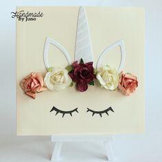 Unicorn handmade card with flowers. Birthdaygreeting inside Unicorn, Flowers, Cards, Handmade, Jewelry, Hand Made, Jewlery, Jewerly, Schmuck