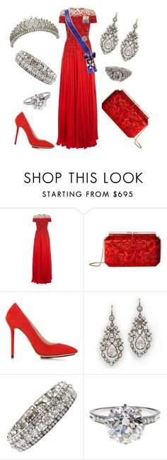 """""""Gala for Members of Parliament"""" by nmccullough ❤ liked on Polyvore featuring ESCADA, Oscar de la Renta, Charlotte Olympia, Cartier, Boucheron and Cathy Waterman"""