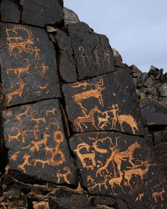 Petroglyhs dating from periods over several thousand years speak of the rich human history of Mongolia Ancient Mysteries, Ancient Artifacts, Ancient History, Art History, Mystery Of History, Indigenous Art, Native Art, Ancient Civilizations, Tribal Art