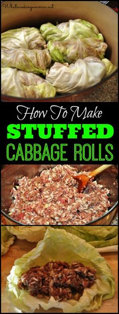 How To Make Stuffed Cabbage Rolls Recipe |  whatscookingamerica.net  |  #stuffed #cabbage #rolls