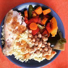 cuisinedemememoniq:  Assiette de couscous : légumes semoule...