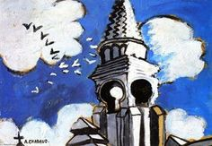 Church Spire - (Auguste Chabaud)