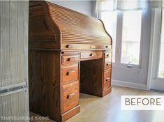 A roll-top desk is resurrected from its oak-y past.