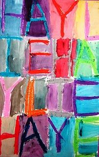 Jasper Johns Abstract Name