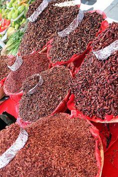 Chapulines. Utilizados para una gran variedad de platillos en México.