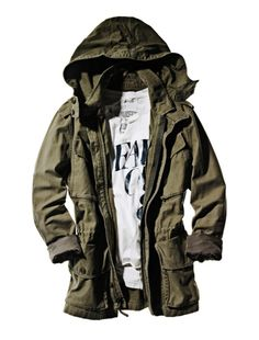 Olive Parka. Simple. Cute.