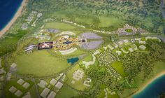 Aerial view Sea World Masterplan