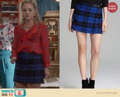 Carrie's blue plaid skirt on The Carrie Diaries. Outfit Details: http://wornontv.net/25691 #TheCarrieDiaries #fashion
