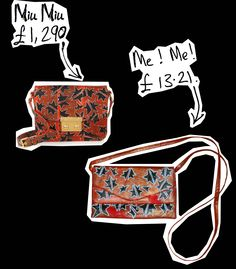 DIY Miu Miu knockoff purse